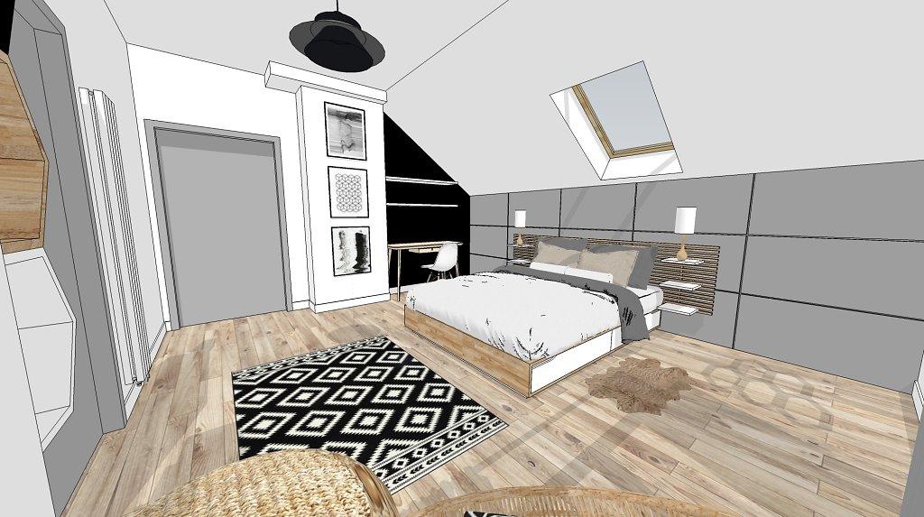 Wnętrza mieszkalne w domu jednorodzinnym.